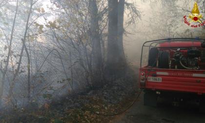 Vigili del Fuoco lecchesi combattono il fuoco sul monte San Primo FOTO