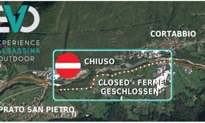 Chiuso un tratto della pista ciclopedonale della Valsassina