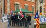 Catalogna leghisti in piazza a Oggiono