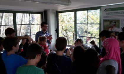 Gli alunni di Pontida in visita alla Stazione Ornitologica