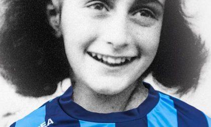 Anche alla partita del Lecco riflessione per Anna Frank