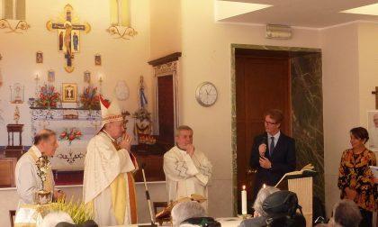 Monsignor Merisi in visita a Villa dei Cedri a Merate
