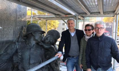 Sopralluogo di Valsecchi al Monumento ai Caduti
