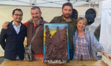 Donata al Giglio la scultura di cioccolato