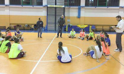 Antonello Riva tifoso d'eccezione della Lecco Basket Women