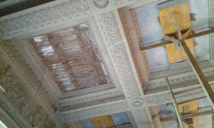 A Villa Greppi è in corso l'intervento di restauro FOTO