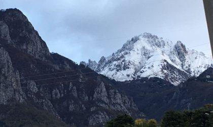 Prima neve anche sulle montagne lecchesi FOTO