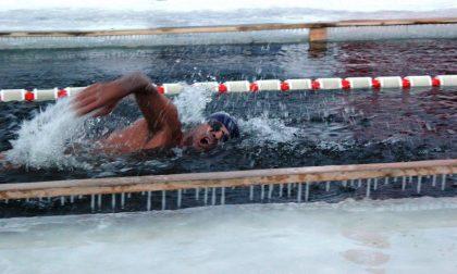 Nuoto invernale, Chiarino nelle acque gelide della Siberia