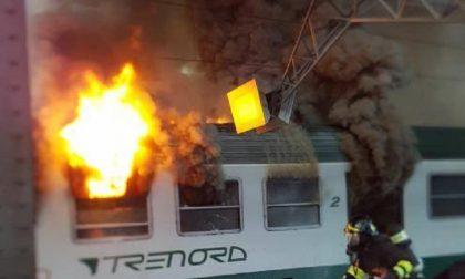 Brucia il treno per Lecco in Centrale VIDEO