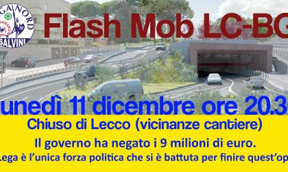 Flash Mob per la Lecco-Bergamo