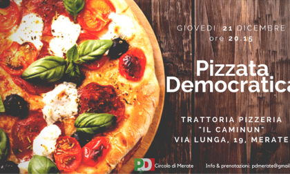 Pizza democratica, il Pd chiama a raccolta iscritti e simpatizzanti
