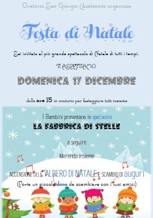 Spettacolo Natale all&#8217&#x3B;oratorio San Giorgio Casatenovo