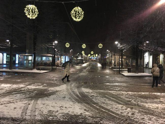 La prima neve imbianca Merate