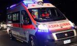 Auto in fiamme dopo un incidente, soccorso un giovane SIRENE DI NOTTE