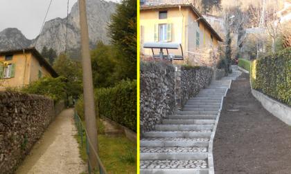 Via San Martino a Lecco rimessa a nuovo FOTO