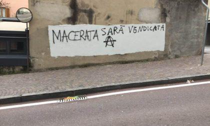 Altre scritte vergognose su Macerata in corso Matteotti