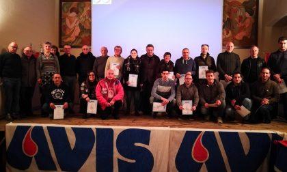 Avis Valmadrera ha premiato i donatori benemeriti