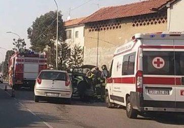 Incidente stradale a Carvico tre persone coinvolte