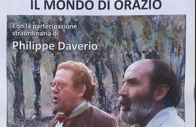 Philippe Daverio all'inaugurazione della mostra di Gaetano Orazio