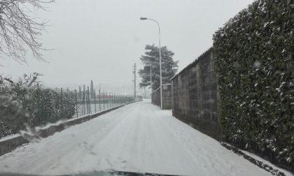 Disagi neve a Brivio nonostante l'allerta meteo FOTO