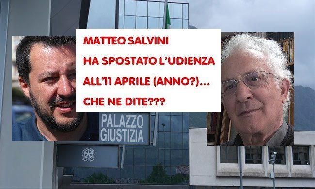Salvini sposta l&#8217&#x3B;udienza, don Giorgio lo attacca