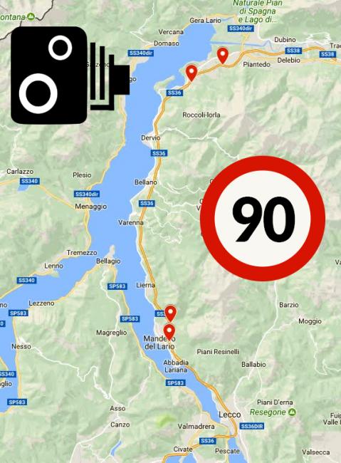 Autovelox Statale 36 fra Lecco e Colico MAPPA INTERATTIVA