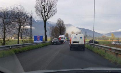 Incidente sulla Statale 36, traffico in tilt in Alto Lago