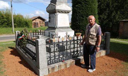 Alberto Fumagalli restaura il monumento ai caduti di Galgiana FOTO