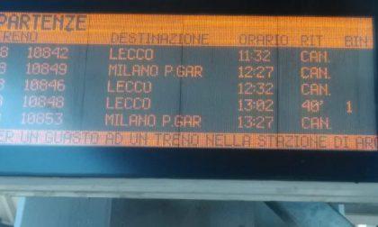Atti vandalici sul treno: ritardi e cancellazioni sulla Lecco-Carnate-Milano
