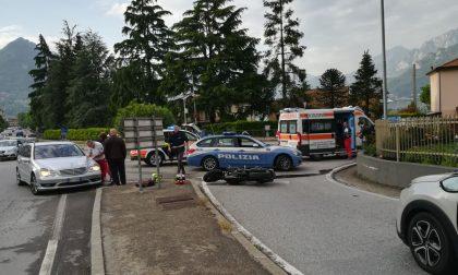 Scontro auto moto a Garlate