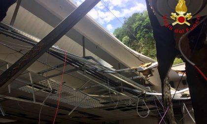 Crolla tetto di un'azienda a Ossuccio FOTO