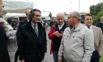 Il governatore della Lombardia Attilio Fontana in visita a Merate FOTO E VIDEO