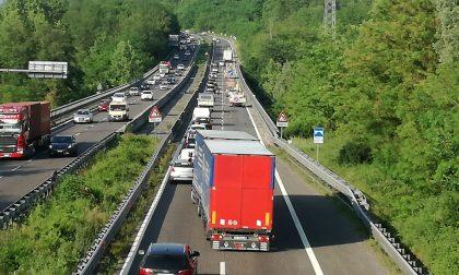 Incidente in Statale 36,  traffico bloccato verso Lecco