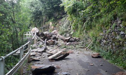 Frana tra  Avano e Pagnona, strada Sp 67 bloccata