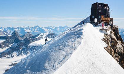 De Gasperi fa l'impresa, record di ascesa e discesa al Monte Rosa. LE FOTO