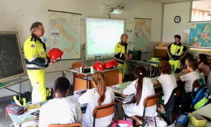 Protezione civile nelle scuole di Missaglia e Monticello FOTO