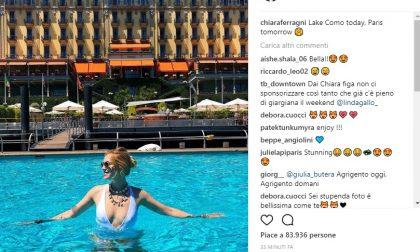 Chiara Ferragni fa tappa sul Lago di Como FOTO
