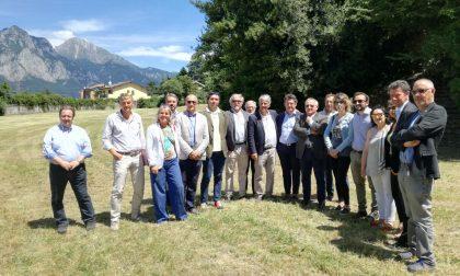 L'assessore regionale Galli in vista a Villa Ponchielli