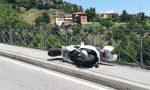 Scontro auto moto in Alta collina FOTO e VIDEO