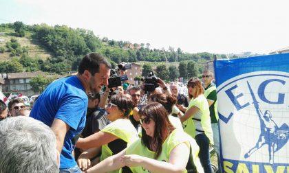 Matteo Salvini arriva al raduno FOTO