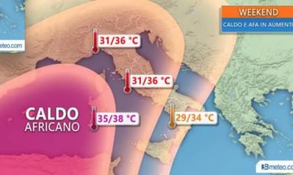 Caldo africano tra fine luglio e inizio agosto. Temperature fino a 38 gradi