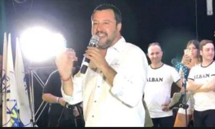 Matteo Salvini arriva nel Lecchese