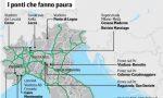 Il cavalcavia di Isella (già chiuso) nella mappa italiana dei ponti a rischio. LE FOTO DEI PONTI CHE FANNO PAURA IN LOMBARDIA