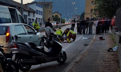 Incidente a Malgrate, grave motociclista, traffico bloccato
