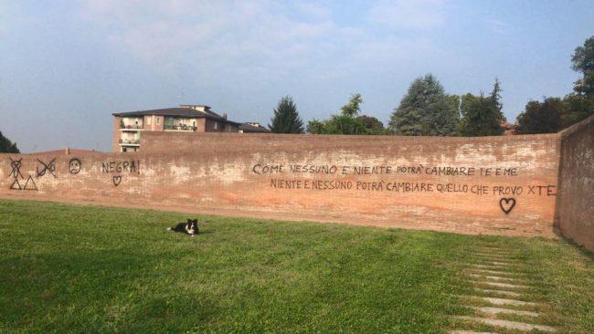 L&#8217&#x3B;area Cazzaniga sfregiata dai vandali