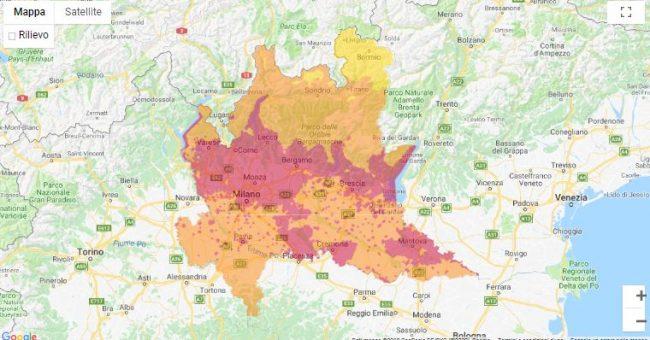 Cartina Dati Lombardia.Cappa Di Smog Respiriamo Veleno I Dati Nel Lecchese Giornale Di