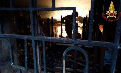 A fuoco l'ex albergo Tartavalle