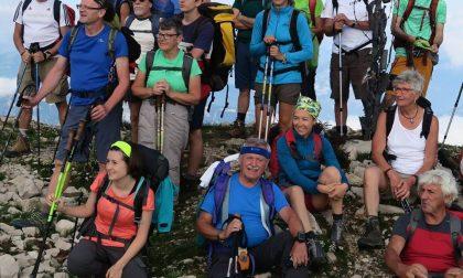 Gruppo escursionistico in gita in Valle Albano