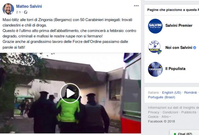 Blitz nelle torri dello spaccio... e Salvini si prende un nostro VIDEO