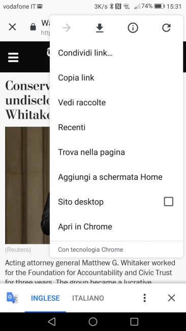 Come aggiungere il nostro sito alla schermata home del cellulare